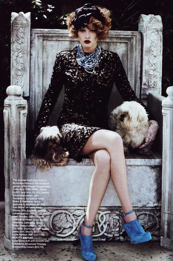 Peggy Guggenheim's Venice | Lara Stone by Karl Lagerfeld