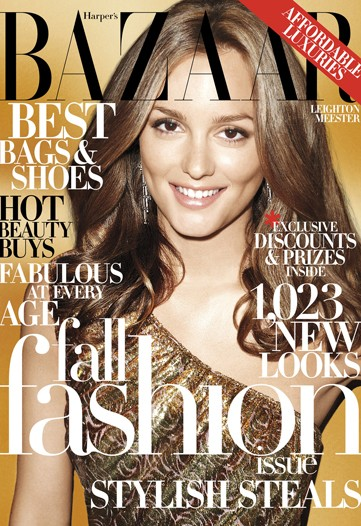 Harper's Bazaar US September 2009 - Leighton Meester by Terry Richardson