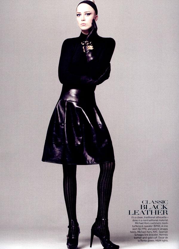 Raquel Zimmermann Has 'No Limits' for Vogue US August