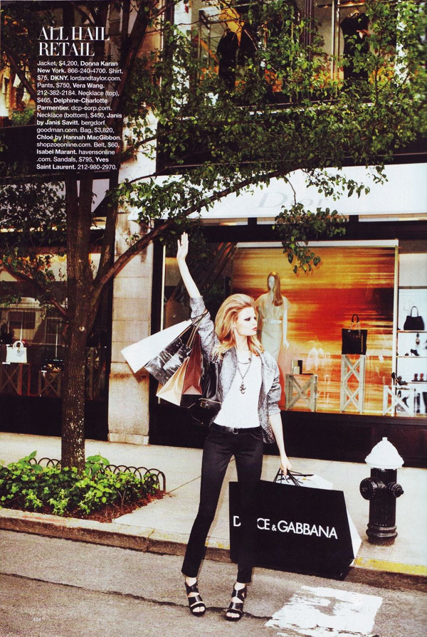 Magdalena is 'Proud to Shop' in Harper's Bazaar US September