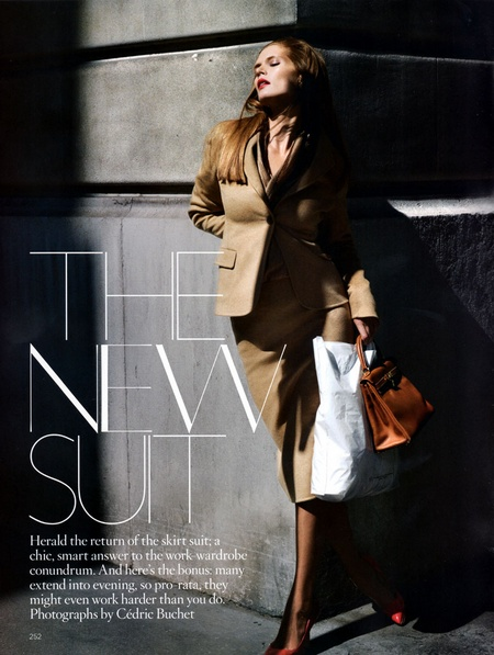 Malgosia Bela Wears 'The New Suit' for Vogue UK September