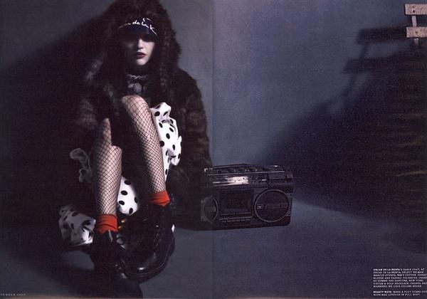 Sasha Pivovarova is A 'Paper Bag Princess' for W September