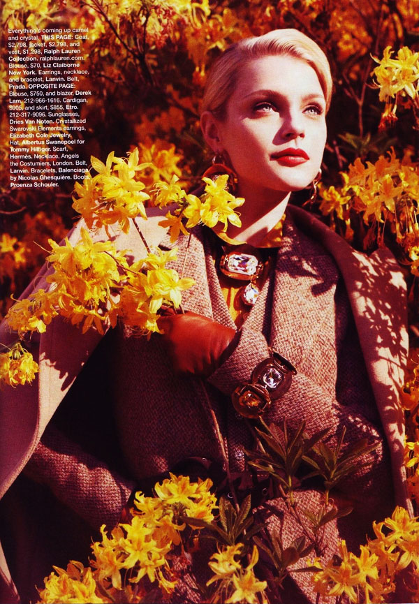 Jessica Stam in 'New Pieces You'll Love Forever' by Benjamin Alexander Huseby