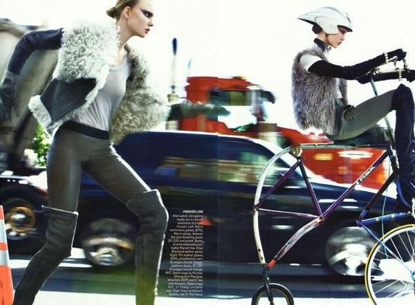 Karlie & Caroline 'Take Cover' in Vogue September