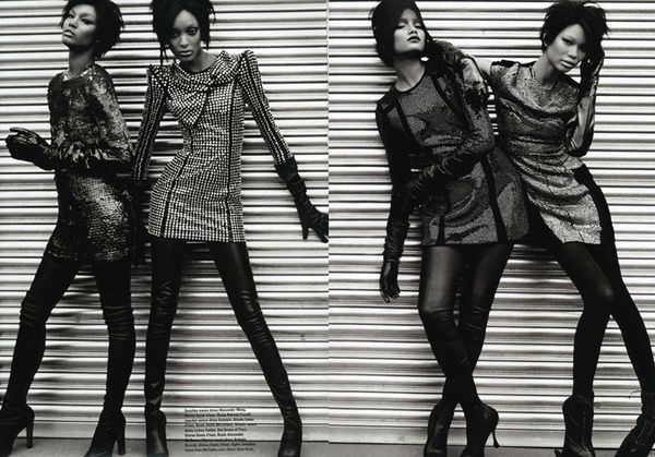 Thriller | Arlenis Sosa, Chanel Iman, Jourdan Dunn & Sessilee Lopez in i-D by Emma Summerton