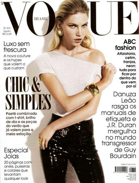 Vogue Brazil August 2009 - Aline Weber