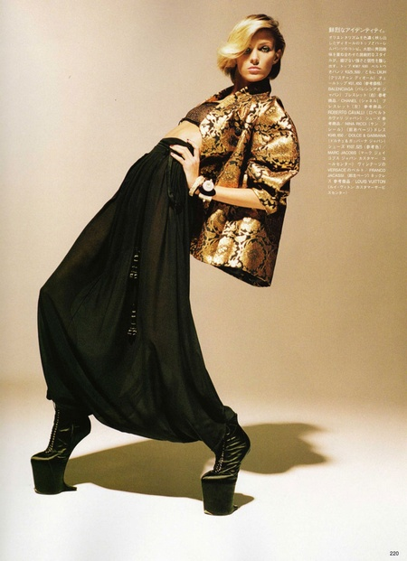 Anja Rubik is 'High Maintence' for Vogue Nippon September
