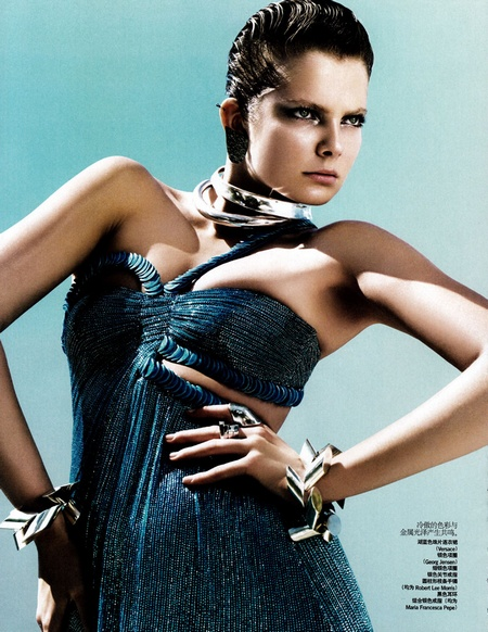 Eniko Mihalik Brings 'Scientific Glamour' to Vogue China August