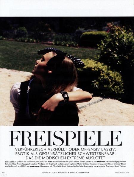 Freispiele | Laura Blokhina & Queeny van der Zande in Vogue Germany