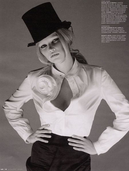 Lara Stone is 'Fashion's It Girl' for W August