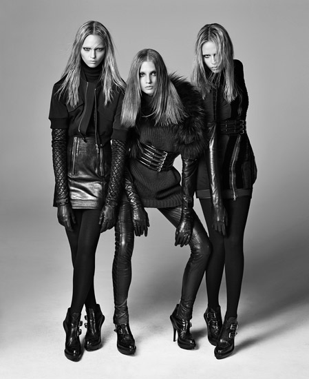 Sasha, Natasha and Anna for Phi Fall 2009 by Steven Meisel