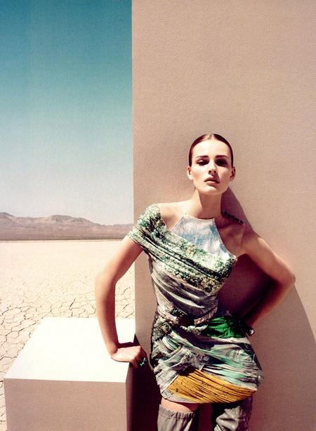 Edita Vilkeviciute in Harper's Bazaar US August
