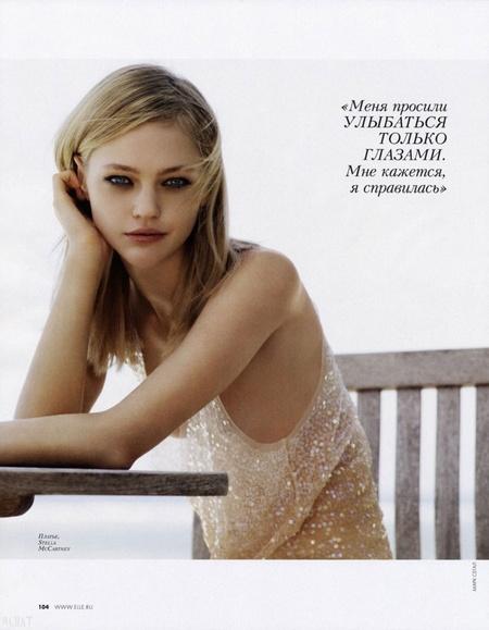 Sasha Pivovarova in Elle Russia