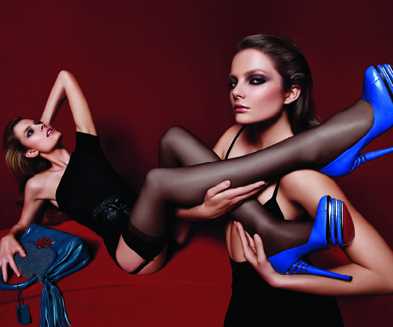 Eniko & Constance for Cesare Paciotti Fall/Winter 09.10 by Mario Sorrenti