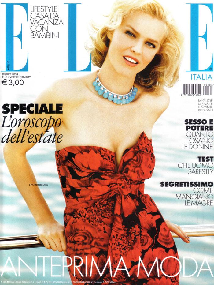 Eva in Elle Italy July