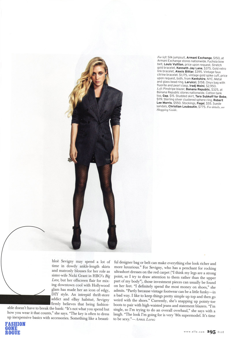 Chloë Sevigny in Elle June