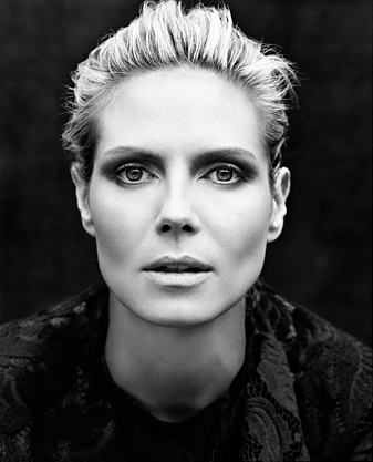 Heidi Klum in Black & White