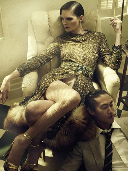 Vogue Germany | Luca Gadjus & Karolin Wolter by Alexi Lubomirski