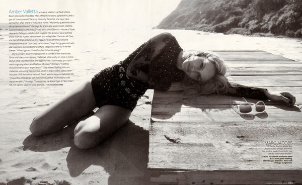 InStyle October   Amber Valletta by Jenny Gage & Tom Betterton