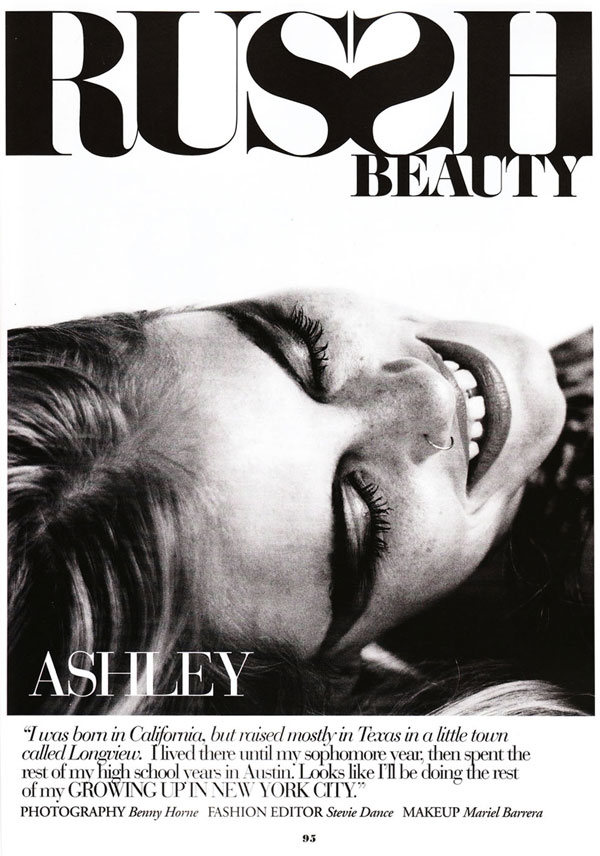 Russh Beauty | Ashley Smith by Benny Horne