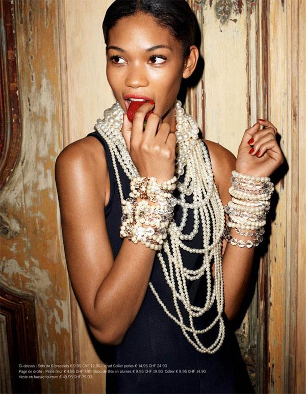 H&M Magazine Winter 2009 | Chanel Iman by Terry Richardson