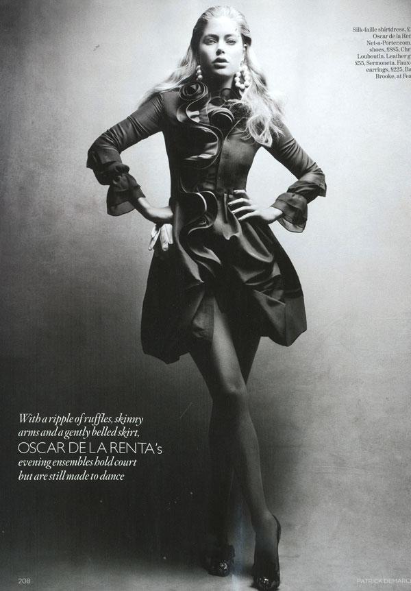 Vogue UK December | Doutzen Kroes by Patrick Demarchelier