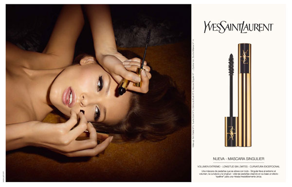 Beauty Campaign   Edita Vilkeviciute for YSL Mascara Fall 2009