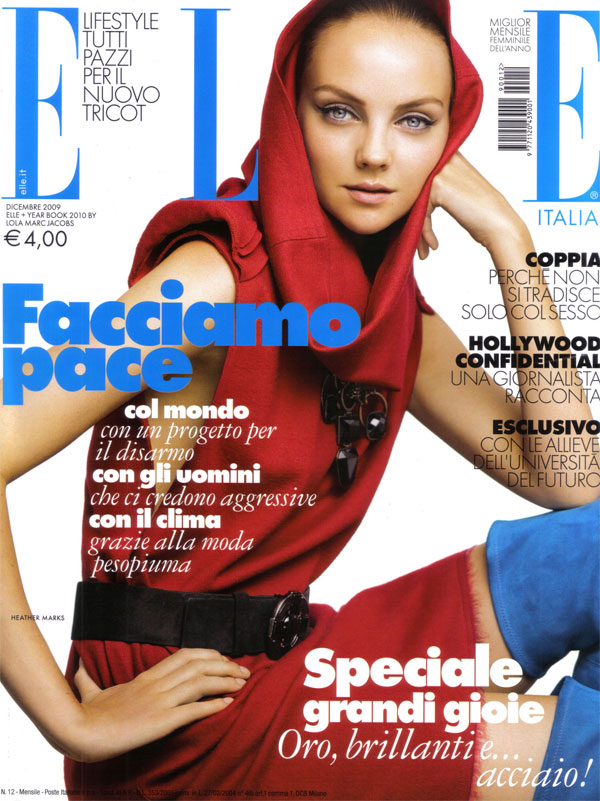 Cover | Heather Marks for Elle Italia December by Alexei Hay