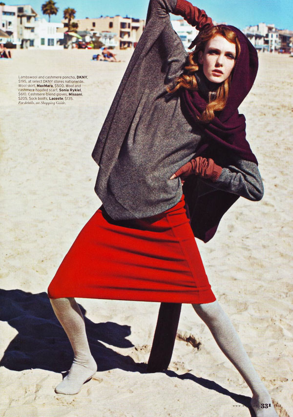 Elle US December | Kate Somers by Horst Diekgerdes