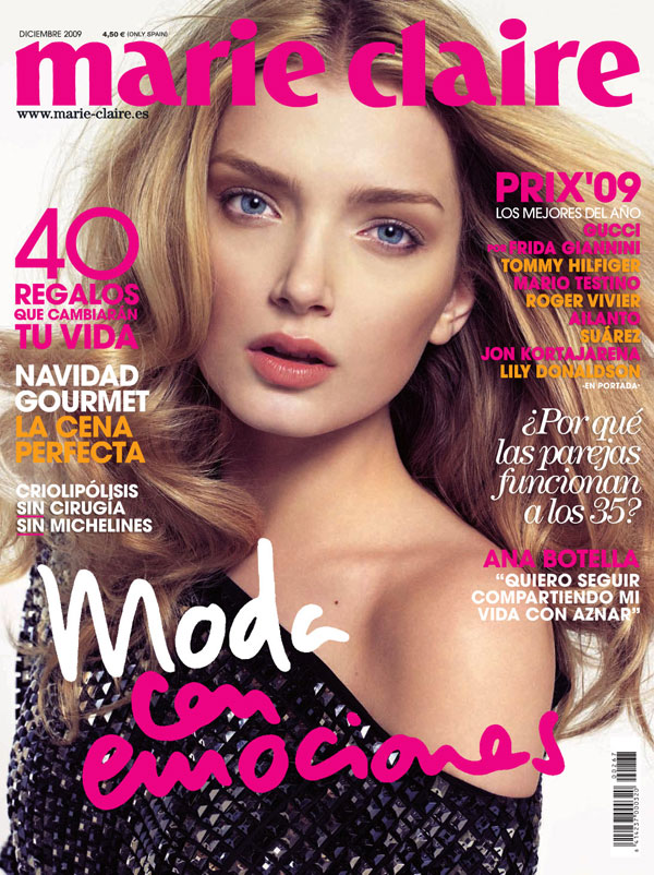Cover | Lily Donaldson by Txema Yeste for Marie Claire Spain December