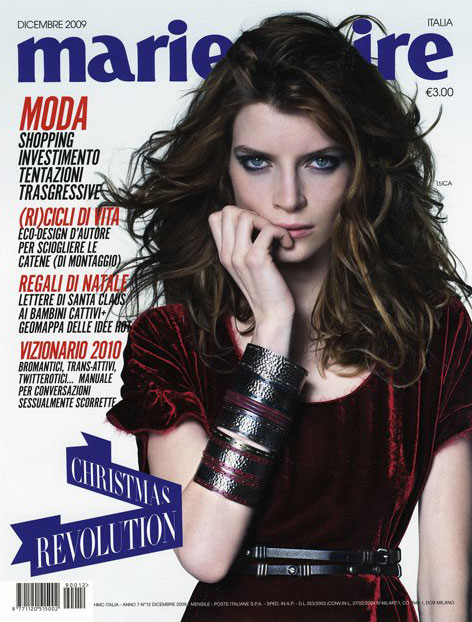 Cover | Luca Gadjus for Marie Claire Italy December 2009