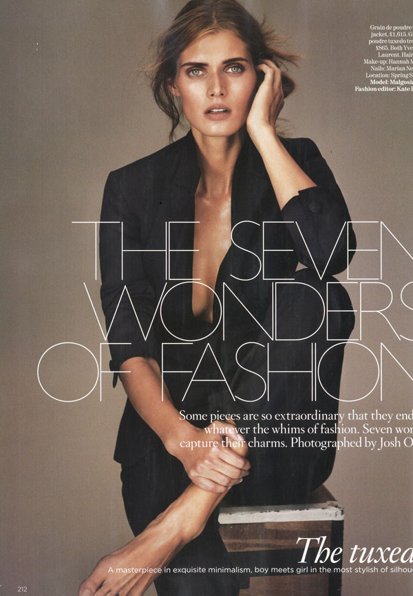 Vogue UK December 2009 | Malgosia Bela by Josh Olins