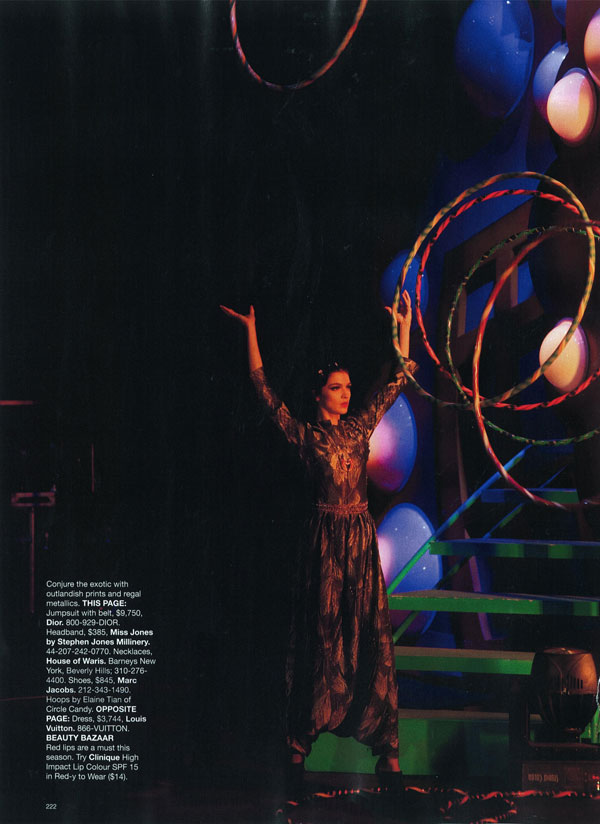 Harper's Bazaar US | Mariacarla Boscono by Peter Lindbergh
