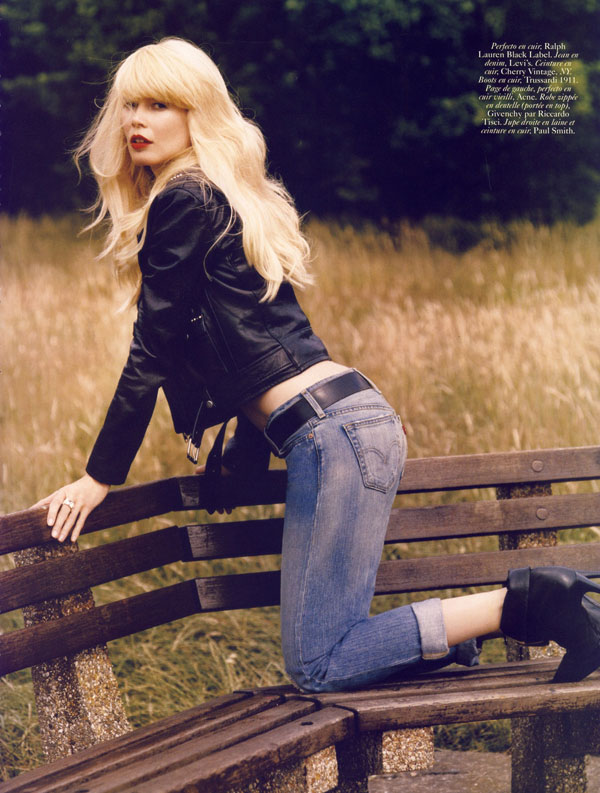 Claudia Schiffer by Alasdair McLellan for Vogue Paris