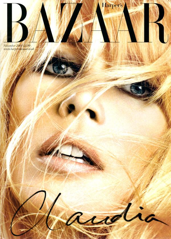 Harper's Bazaar UK November 2009 - Claudia Schiffer by Michelangelo di Battista