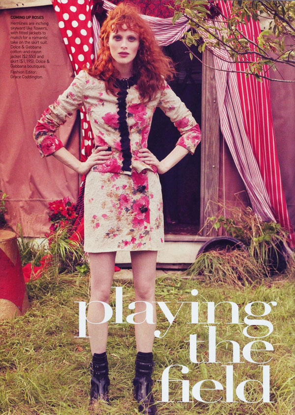 Playing the Field | Karen Elson by Craig McDean for Vogue US
