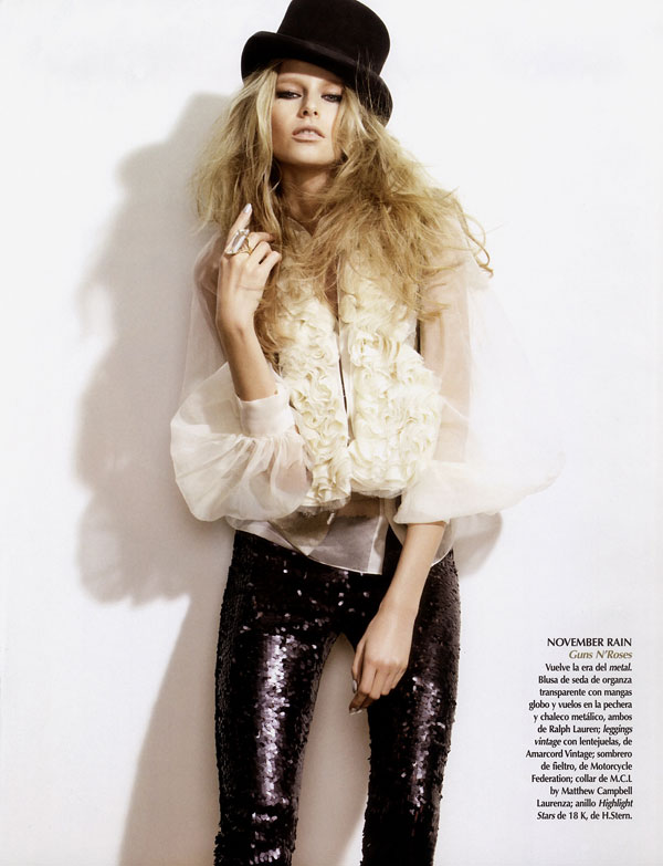 Rock Style | Hana Soukupova by Sarah Silver for Vogue Mexico
