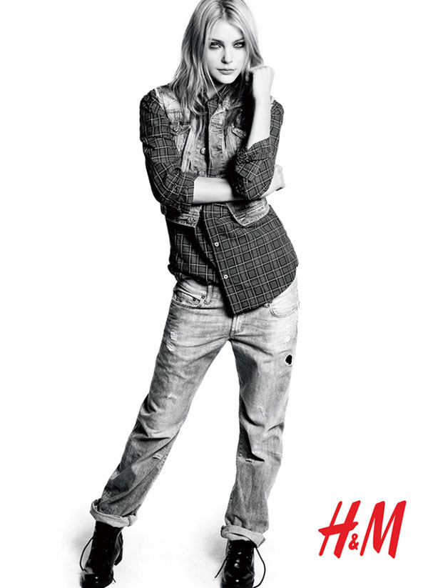 H&M Fall 2009 Campaign | Jessica Stam by Andreas Sjödin