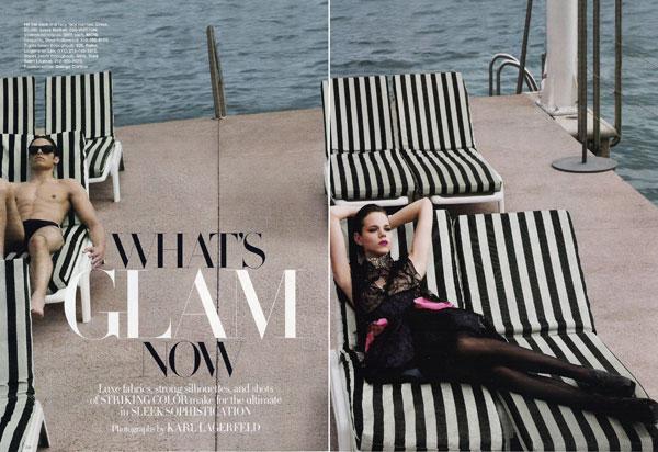 Freja Beha by Karl Lagerfeld for Harper's Bazaar US November