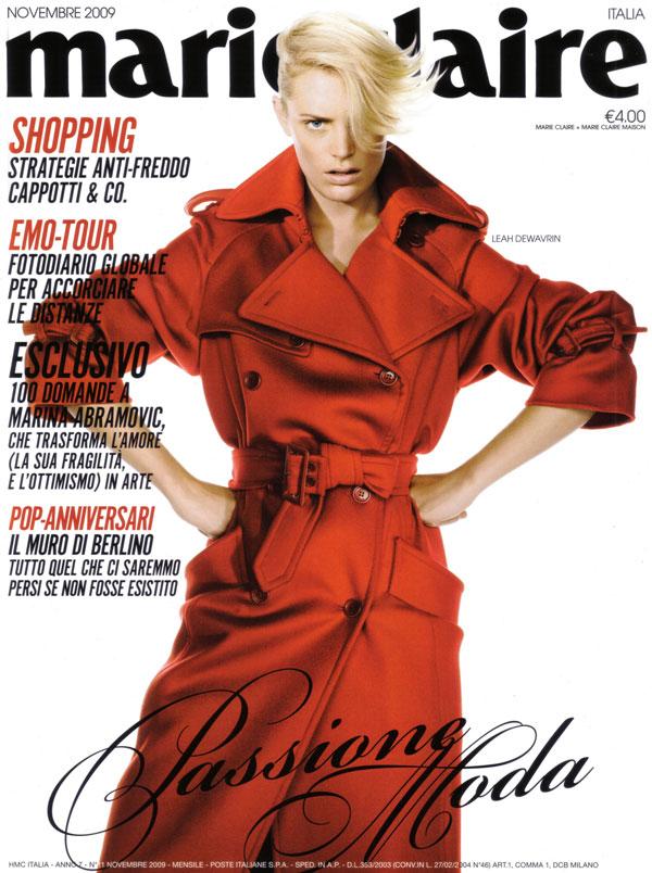 Marie Claire Italy November 2009 - Leah de Wavrin by Daniel Gabbay