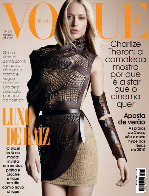 Vogue Brazil October 2009 - Raquel Zimmermann by Henrique Gendre