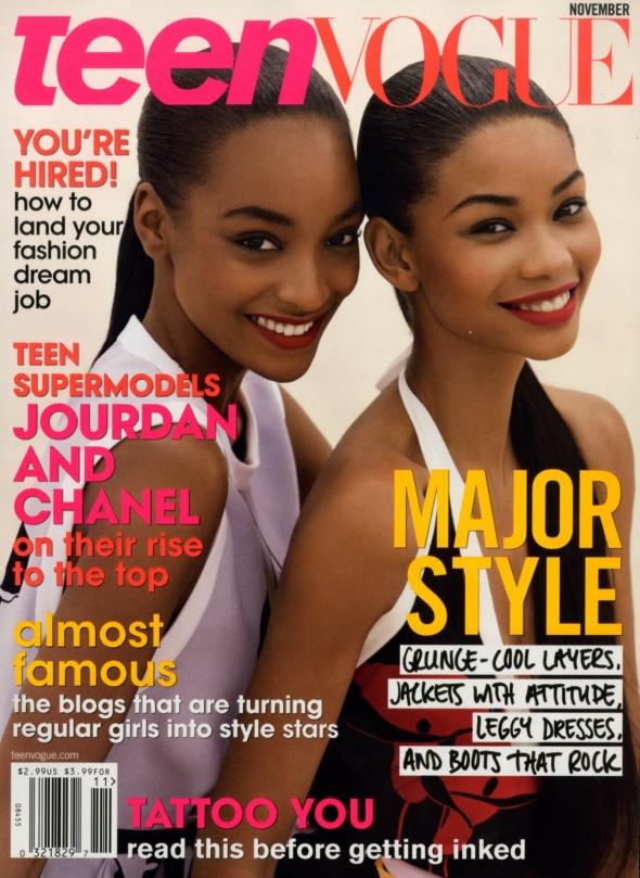 Teen Vogue November 2009 - Jourdan Dunn & Chanel Iman by Patrick Demarchelier