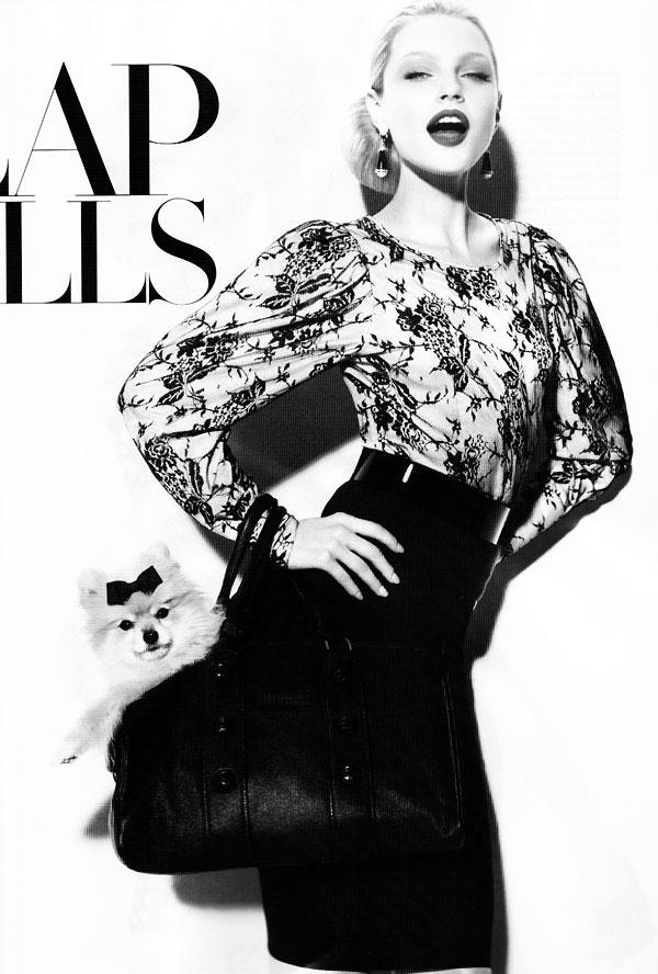 Miguel Reveriego Shoots Jessica Stam for Harper's Bazaar US