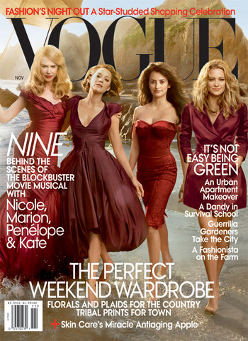 Vogue US November 2009 - Nicole, Kate H., Penelope & Marion by Annie Leibovitz