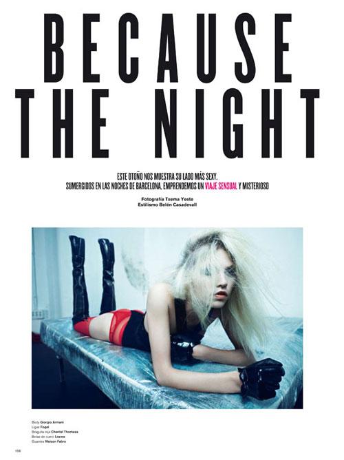 Because the Night | Aline Weber by Txema Yeste for V Spain
