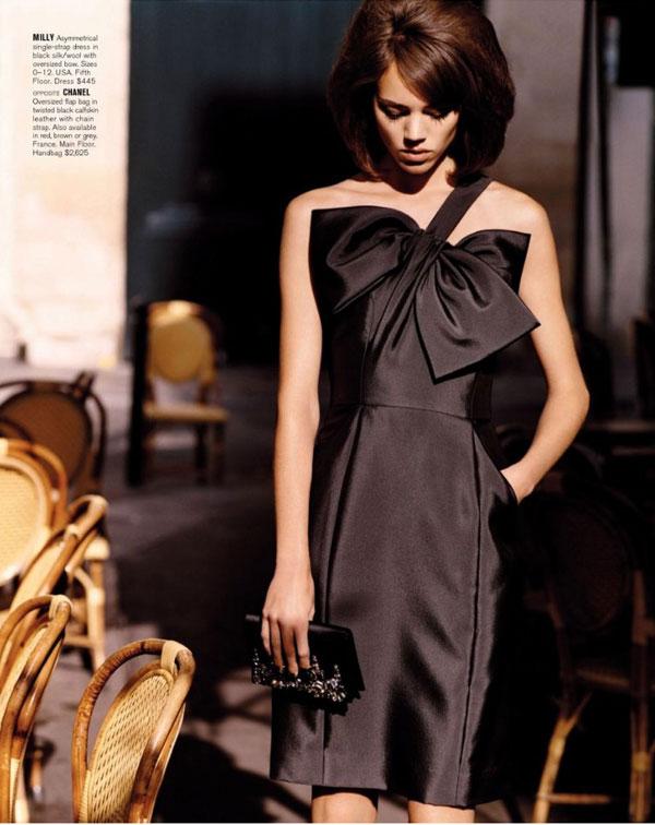 Freja Beha Erichsen in Bergdorf Goodman's Fall Catalogue