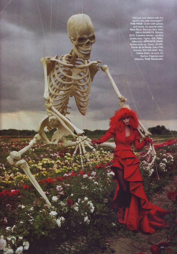Tim Burton's Tricks & Treats by Tim Walker for Bazaar US