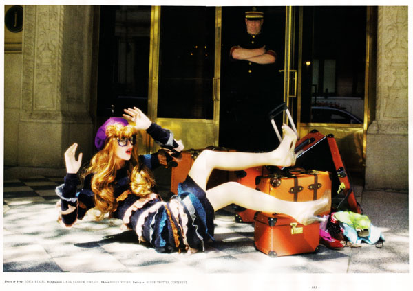 Ellen von Unwerth Photographs Cintia Dicker for Lula Mag