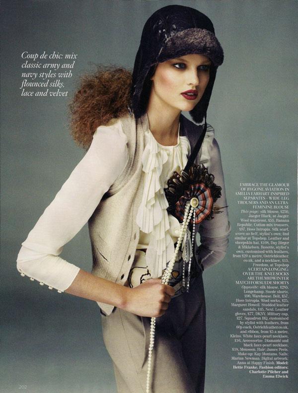 Bette Franke In 'Forward March' for Vogue UK