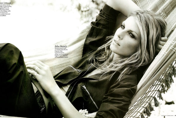 Matt Jones Photographs Angela Lindvall for Elle Italia October